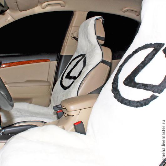 """Автомобильные ручной работы. Ярмарка Мастеров - ручная работа. Купить Накидки на сидения """"Lexus"""" Код: 118. Handmade. Белый, автомобилисту"""