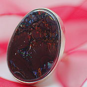 Украшения handmade. Livemaster - original item Ring with boulder opal