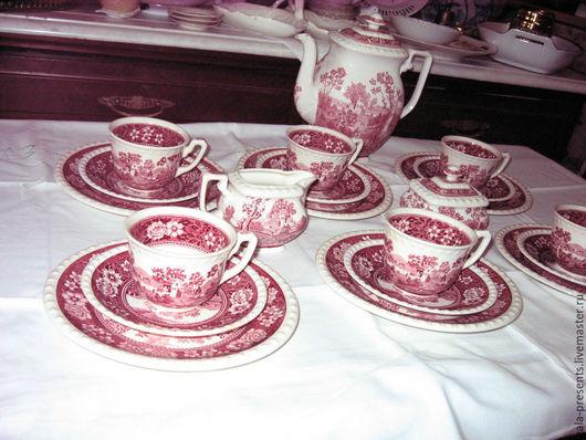 Винтажная посуда. Ярмарка Мастеров - ручная работа. Купить -10% Villeroy&Boch Rustiсana (21 пр) кофейный сервиз 1960 г.. Handmade.