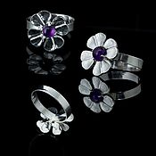 Rings handmade. Livemaster - original item Silver ring with amethyst