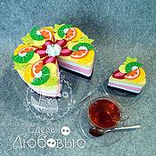 Куклы и игрушки handmade. Livemaster - original item Educational game designer Cake from felt. Handmade.