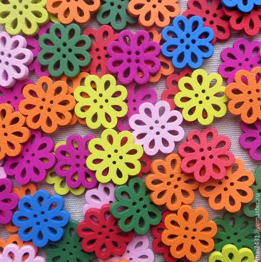 Пуговицы  цветочки резные