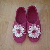 """Обувь ручной работы. Ярмарка Мастеров - ручная работа Тапочки """"Гранаты"""". Handmade."""