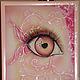 Абстракция ручной работы. Ярмарка Мастеров - ручная работа. Купить Батик-картина Розовое око. Handmade. Розовый, батик картина