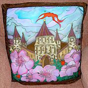 Для дома и интерьера handmade. Livemaster - original item silk pillowcases on the pillow batik