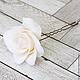 Заколки ручной работы. Шпильки с розами (средние) Белые. Tanya Flower. Интернет-магазин Ярмарка Мастеров. Украшение для невесты