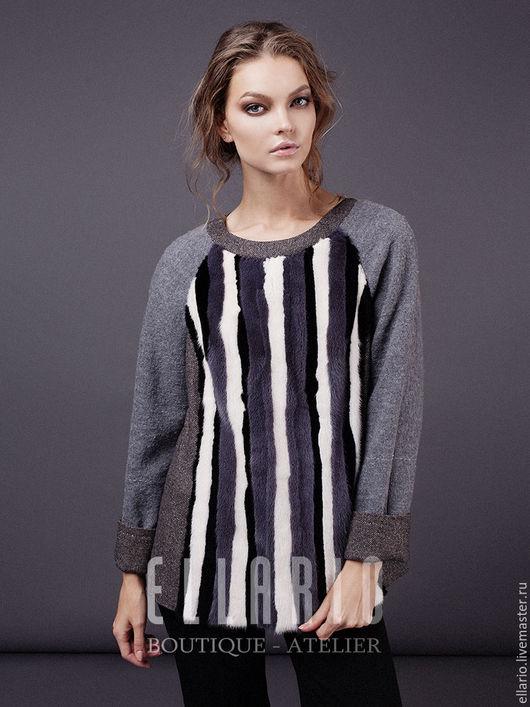 Кофты и свитера ручной работы. Ярмарка Мастеров - ручная работа. Купить -20% Свитер из норки ELLARIO серый. Handmade. Серый