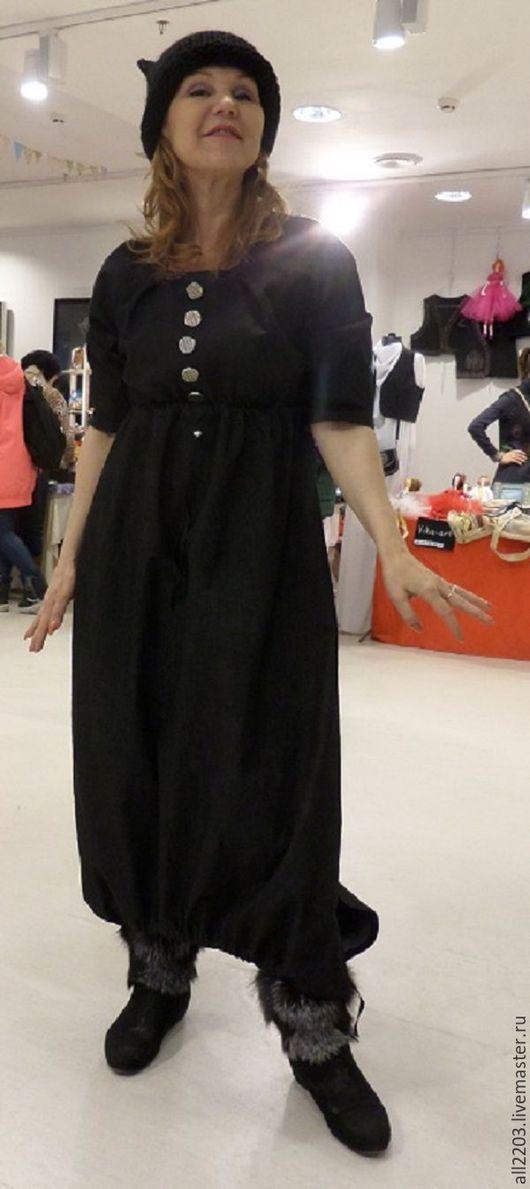 Платья ручной работы. Ярмарка Мастеров - ручная работа. Купить Джинсовое платье. Handmade. Комбинированный, большой размер, голубой