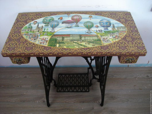 """Мебель ручной работы. Ярмарка Мастеров - ручная работа. Купить Оригинальный стол """"Воздухоплавание"""". Handmade. Коричневый, письменный стол"""