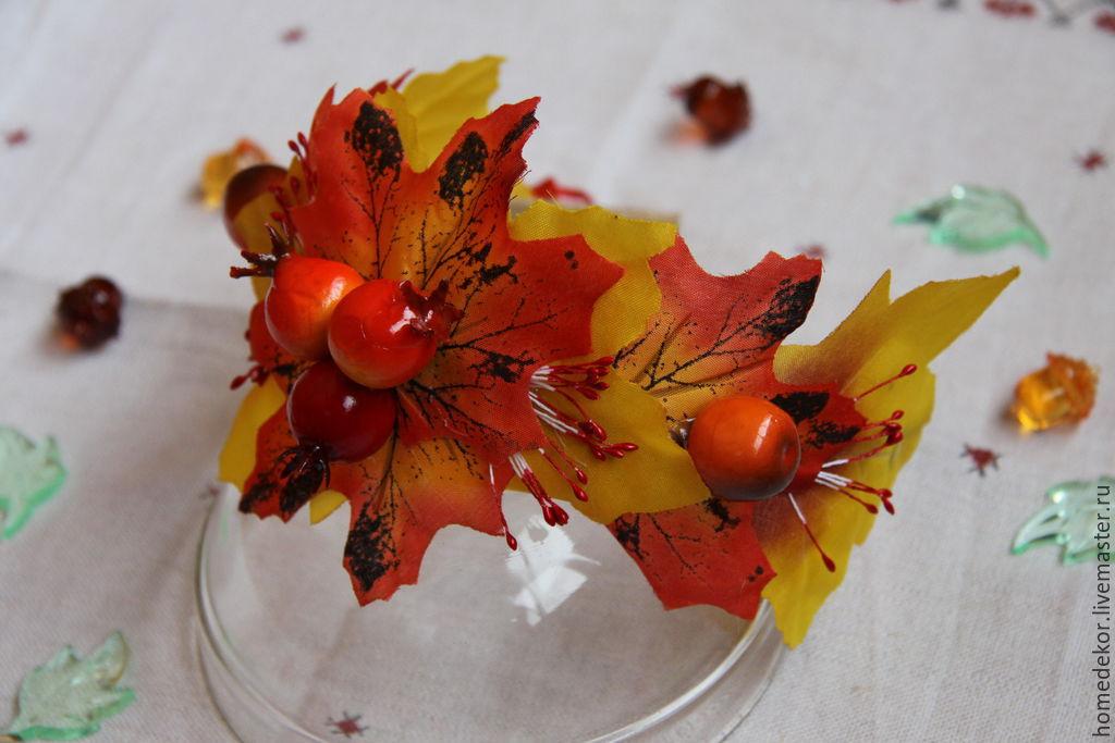 Осенний ободок для ребенка