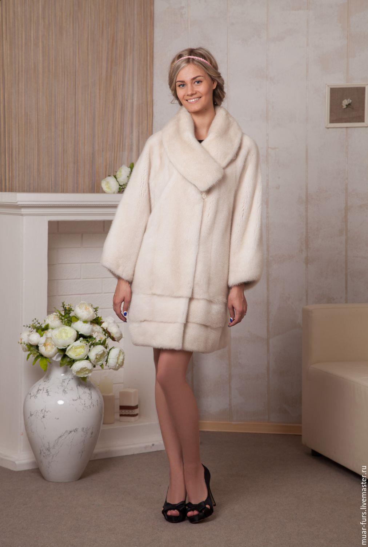 Mink coat 'Noble Pearl'. Fur coat of mink, Fur Coats, Kirov,  Фото №1