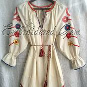 "Одежда handmade. Livemaster - original item Linen dress ""Folk"" in the style of  Vita Kin . boho dress. Handmade."