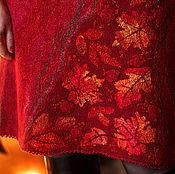 Одежда ручной работы. Ярмарка Мастеров - ручная работа Платье валяное Осенний блюз. Handmade.