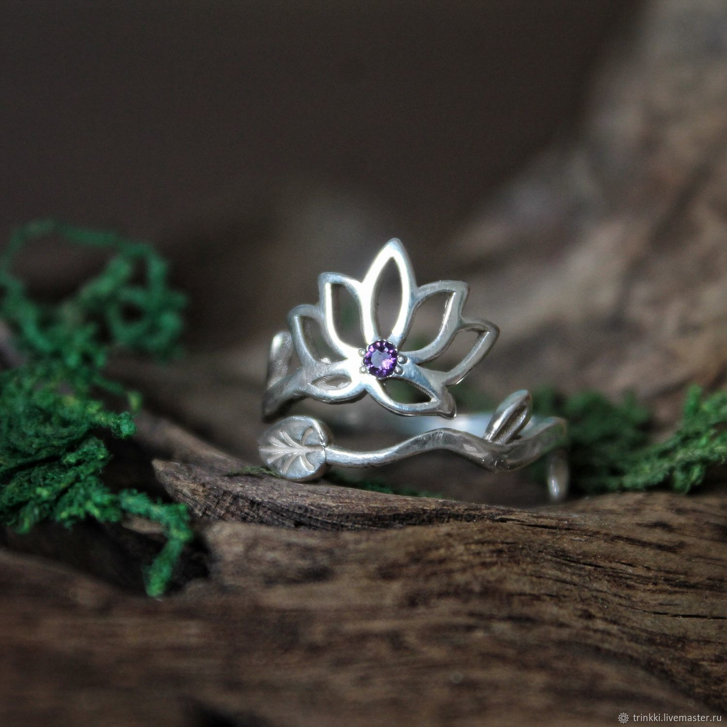 Lotus, a silver ring with a Lotus flower. yoga, Rings, Tver,  Фото №1