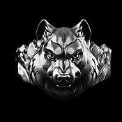 Украшения handmade. Livemaster - original item Ring: Lone wolf. Handmade.