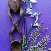 Посуда handmade. Livemaster - original item Hand Carved Wooden Love Spoon. Handmade.