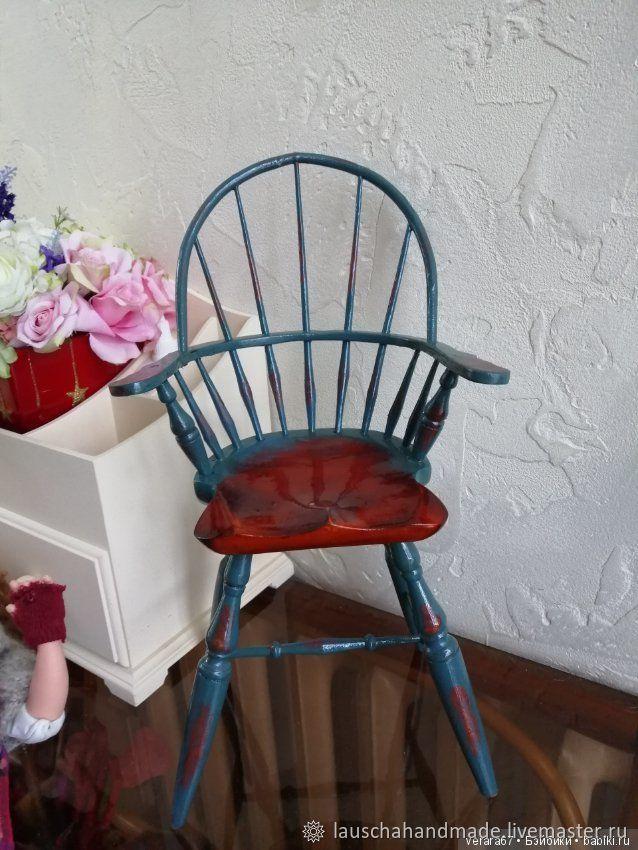 Стул деревянный для кукол,мишек от 35 до 55 см, Мебель для кукол, Омск,  Фото №1