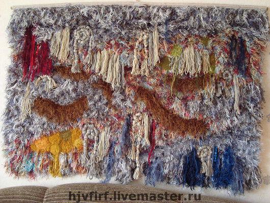 """Текстиль, ковры ручной работы. Ярмарка Мастеров - ручная работа. Купить Ковер-панно """"Коралловые острова"""". Handmade."""