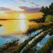Картины и панно handmade. Livemaster - original item 33 oil Painting peisaj Razliv Vladimir Chernov. Handmade.