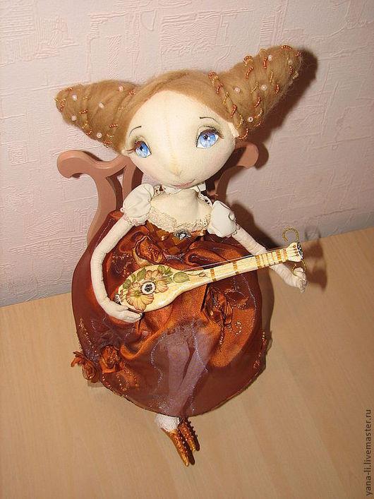 Коллекционные куклы ручной работы. Ярмарка Мастеров - ручная работа. Купить Агнеса с мандолиной Авторская кукла. Handmade. Рыжий