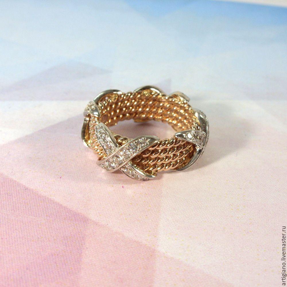плетеные золотые кольца