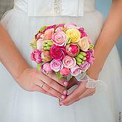 """Цветы и флористика ручной работы. Ярмарка Мастеров - ручная работа Букет невесты """"Фуксия"""". Handmade."""
