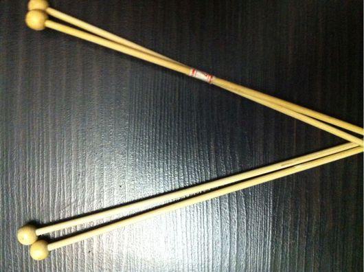 Вязание ручной работы. Ярмарка Мастеров - ручная работа. Купить Спицы бамбуковые, 3 мм. Handmade. Бежевый, спицы из бамбука