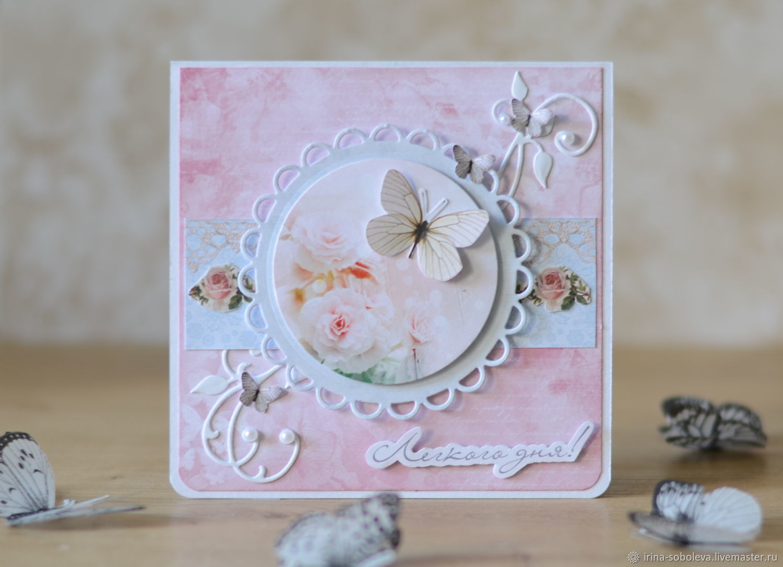 Открытки ручной работы с бабочками