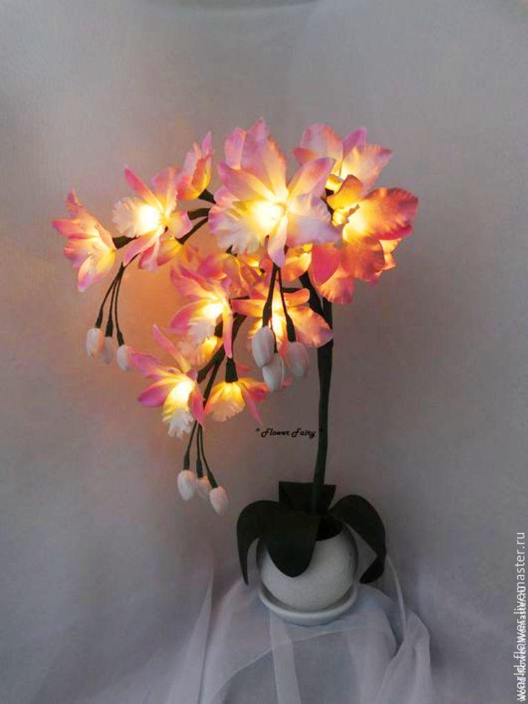 """Букет-светильник """"Орхидея"""" 3 веточки, Освещение, Сургут, Фото №1"""