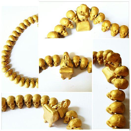 Украшения для мужчин, ручной работы. Ярмарка Мастеров - ручная работа. Купить Четки ( бусы ) золото. Handmade. Желтый