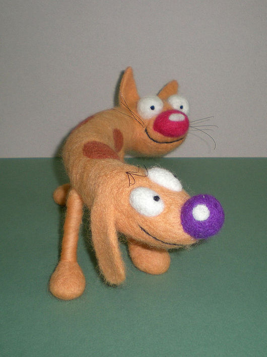 Игрушки животные, ручной работы. Ярмарка Мастеров - ручная работа. Купить Котопёс. Handmade. Авторская игрушка, игрушка, котопёска, оранжевый