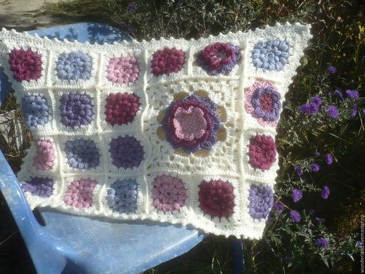 Текстиль, ковры ручной работы. Ярмарка Мастеров - ручная работа. Купить Чехол на подушку печворк Осенние цветы. Handmade. Комбинированный
