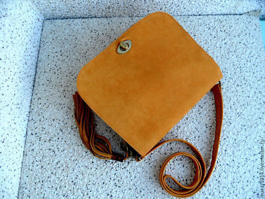 Женские сумки ручной работы. Ярмарка Мастеров - ручная работа. Купить САФАРИ кожаная сумка почтальонка на длинном ремешке. Handmade.
