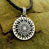 Украшения handmade. Livemaster - original item Pendant/Amulet Black Sun/Molvinets of silver 925. Handmade.