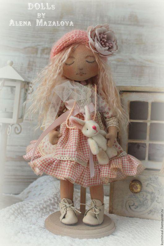 Коллекционные куклы ручной работы. Ярмарка Мастеров - ручная работа. Купить Ванилька ... Текстильная интерьерная куколка. Handmade. Кремовый, цветы