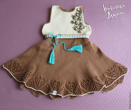 """Одежда для девочек, ручной работы. Ярмарка Мастеров - ручная работа. Купить Платье """"Кофе с молоком"""". Handmade. Комбинированный, для девочки"""
