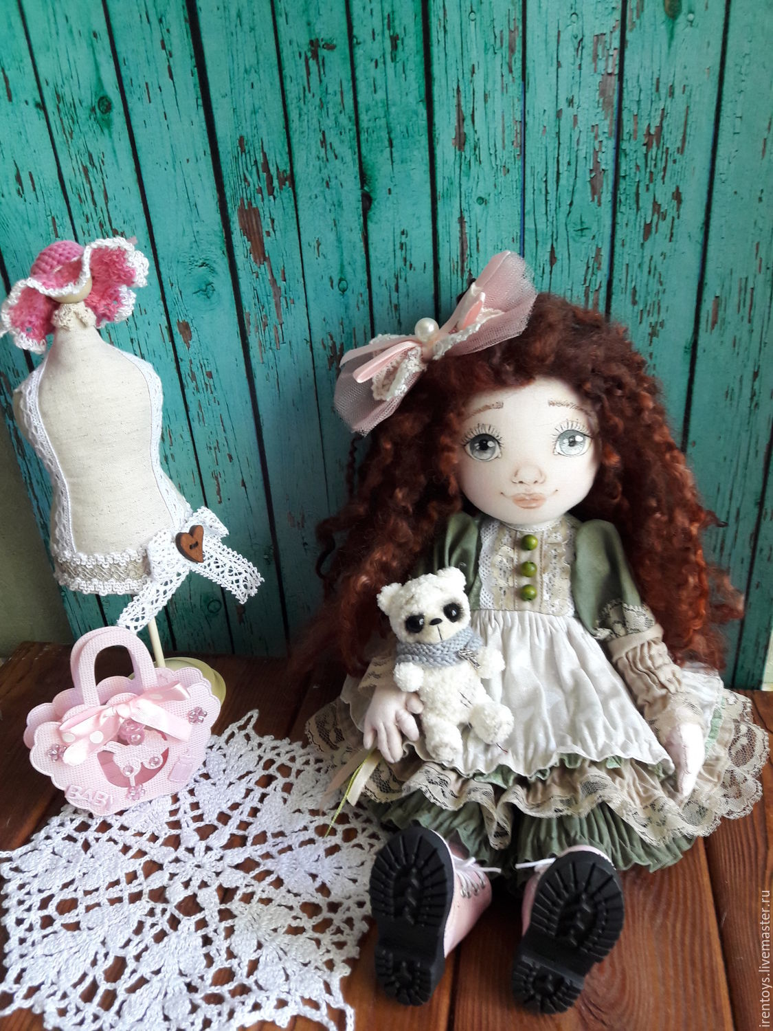 Textile doll Annie – shop online on Livemaster with shipping ...