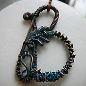 Украшения handmade. Livemaster - original item Copper wire wrapped pendant  letter B. Handmade.