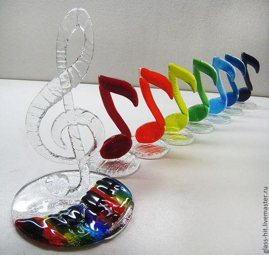 Подарочный набор для музыканта.Стекло. Фьюзинг.