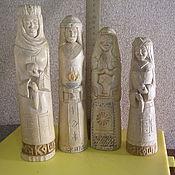 Русский стиль ручной работы. Ярмарка Мастеров - ручная работа Деревянные фигурки богинь. Handmade.