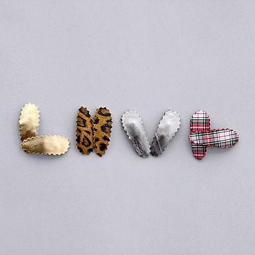 Works for children handmade. Livemaster - original item Set of children`s hair clips Click-Clack. Handmade.