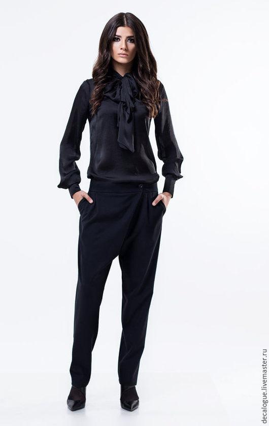 Блузки ручной работы. Ярмарка Мастеров - ручная работа. Купить Модная рубашка. Handmade. Черный, блузка женская, мода 2015