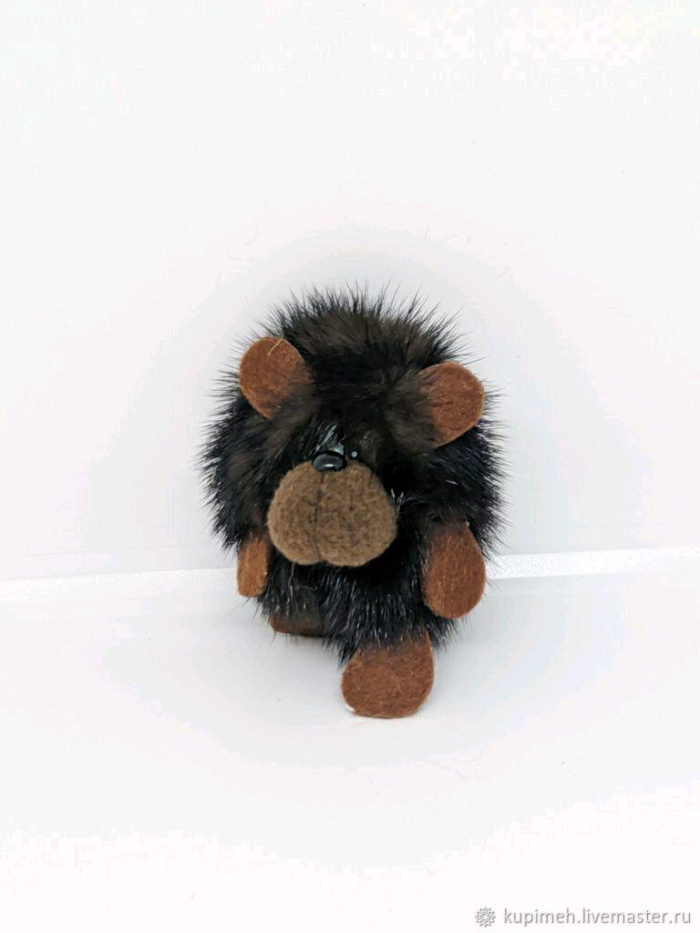 Bear cub souvenir, keychain made of mink fur, Christmas gifts, Nalchik,  Фото №1