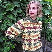 Одежда ручной работы. Ярмарка Мастеров - ручная работа Джемпер Осенняя мозаика. Handmade.