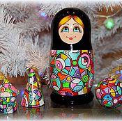Русский стиль ручной работы. Ярмарка Мастеров - ручная работа Матрёшка и три игрушки. Handmade.