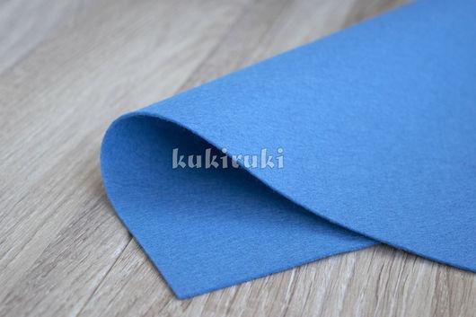 Валяние ручной работы. Ярмарка Мастеров - ручная работа. Купить Светло-голубой полушерстяной фетр. Handmade. Фетр, фетр листовой