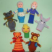 """Куклы и игрушки ручной работы. Ярмарка Мастеров - ручная работа пальчиковые куклы """"Колобок"""". Handmade."""
