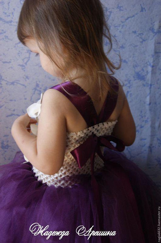 """Одежда для девочек, ручной работы. Ярмарка Мастеров - ручная работа. Купить Платье для девочки """"Слива/айвори"""". Handmade. Фиолетовый, день рождения"""