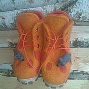 """Работы для детей, ручной работы. Ярмарка Мастеров - ручная работа Ботинки валяные """" Сырные"""". Handmade."""