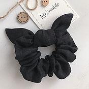 Украшения handmade. Livemaster - original item Fabric black elastic band for hair. Handmade.
